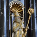 Statue des Hl. Pirmin in der Kirche Pfäfers | © Barbara Fleischmann